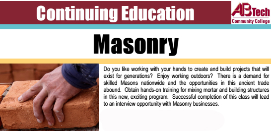 Skilled Trade & Occupational Course – Masonry
