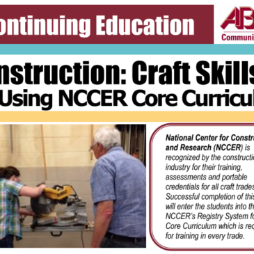 Construction: Craft Skills through AB Tech