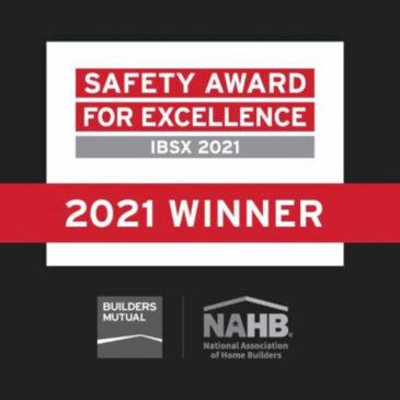 Buchanan Construction wins Two 2020 NAHB/Builders Mutual Safety Awards